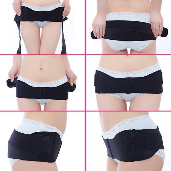 pelvis belts wearing operation method