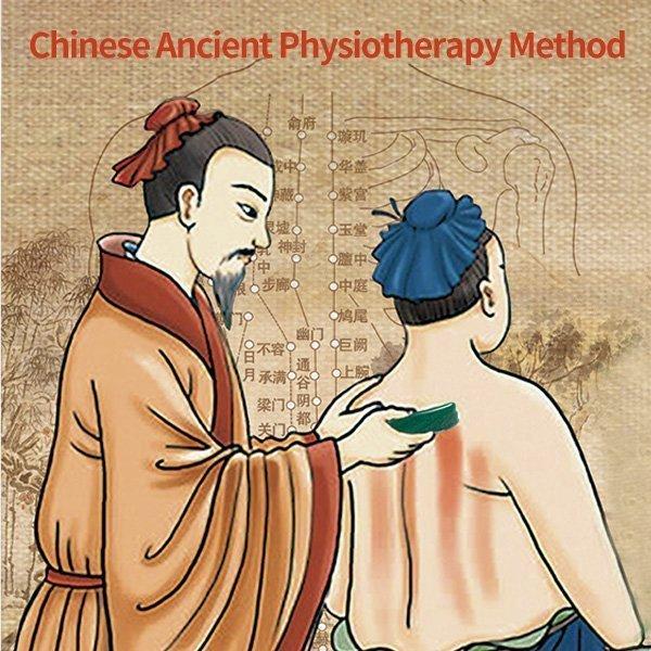 Jade guasha tool chinese medicine