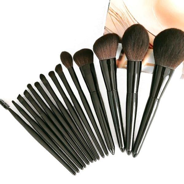 14 PCS Makeup Brush Set Black Color