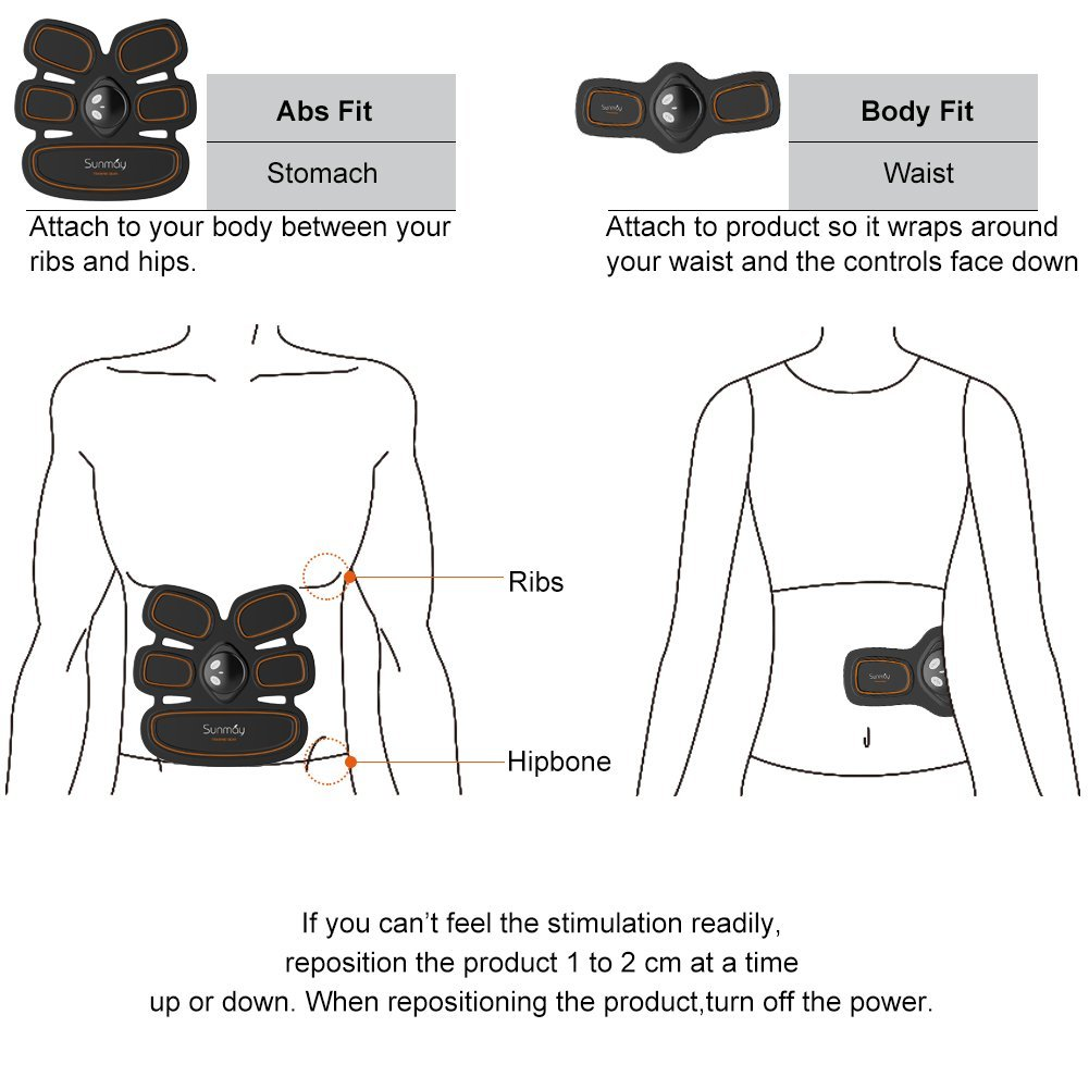 EMS Muscle Stimulator use