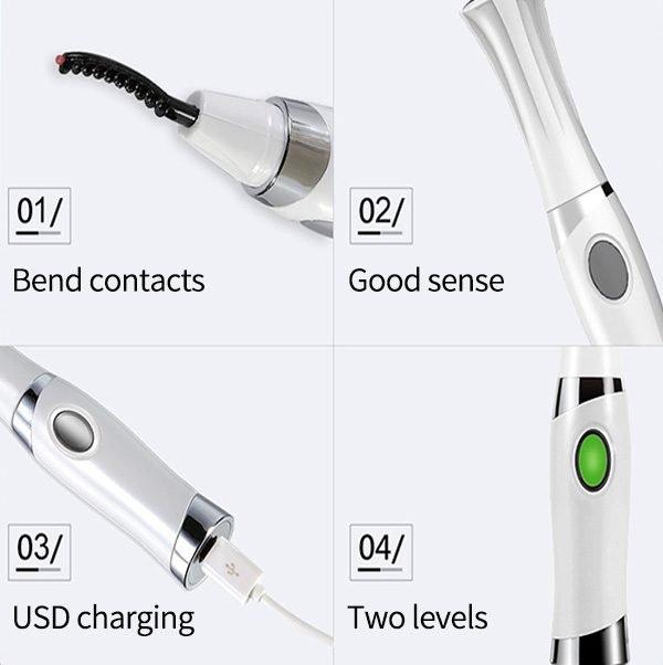 electric heated eyelash curler detail