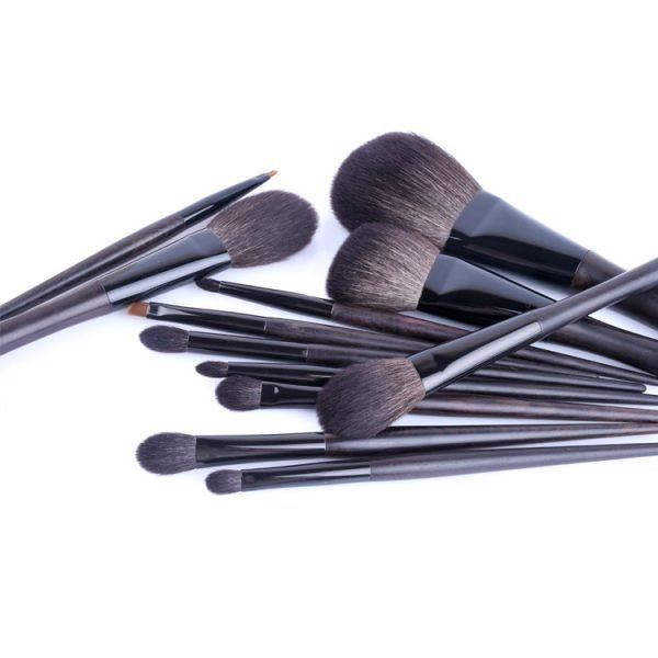 12 PCS Makeup Brush Set Black color