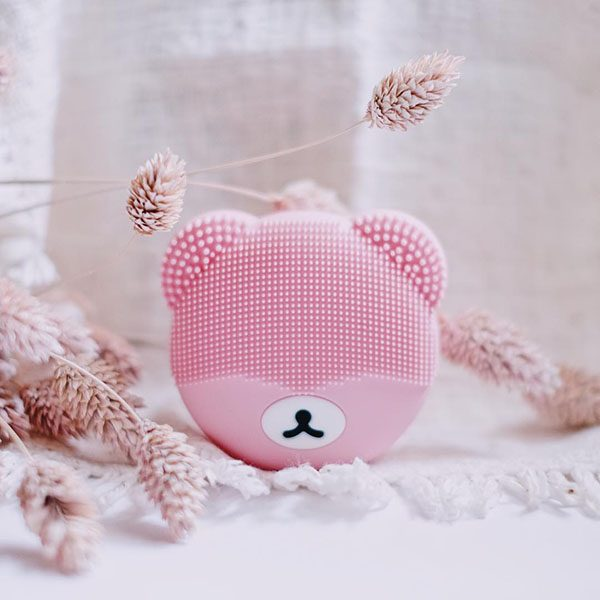 Bear Shape Sonic Face Cleanser Baby Pink Wholesale Supplier