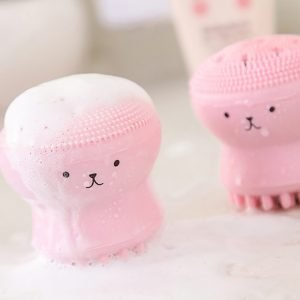 Exfoliating Jellyfish Silicon Facial Scrubber Brush Wholesale