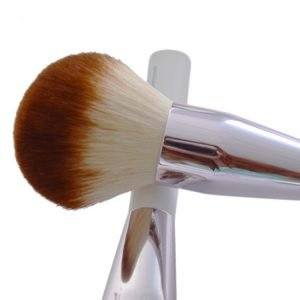 White cosmetic brush manufacture