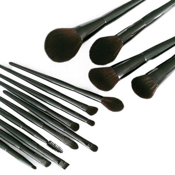 Black 14 PCS Makeup Brush Set