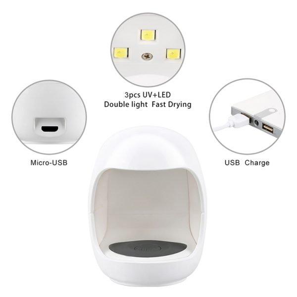 Portable UV Gel Nail Dryer Parts Details