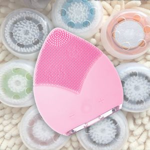 Silicone Facial Cleansing Brush Baby Pink