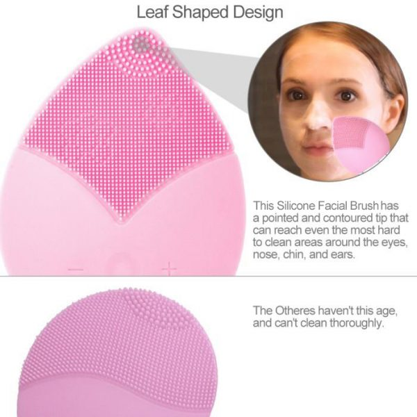 Silicone Facial Cleansing Brush Baby Pink VS Others