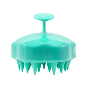 Silicone Shampoo Brush Green