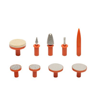 eight nail polishing and grinding heads grinder