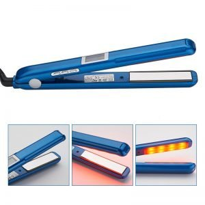 China Factory Ultrasonic Infrared Hair Straightener Blue
