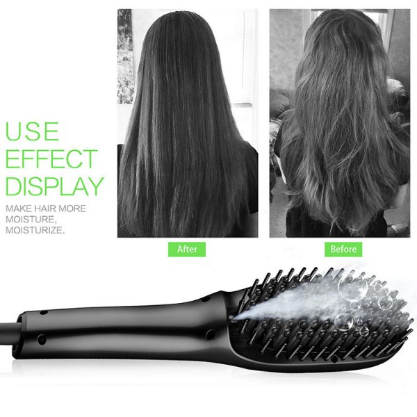 LED Electric Straight Hair Comb Black