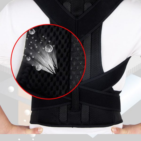 Breathable Black Posture Brace