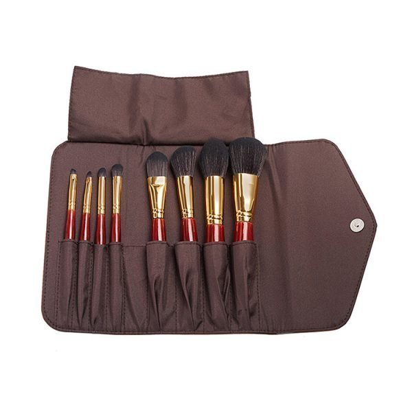 8pcs Cosmetic Brush Kit with Travel Bag