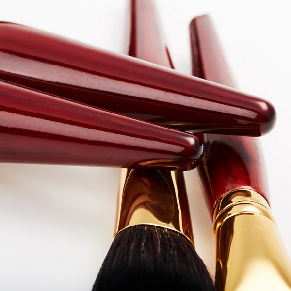 Quality Mahogany Makeup Brush Set