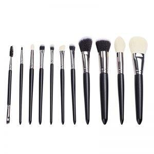 11 Pcs Synthetic Powder Concealers Blush Eye Shadows Makeup Brushes