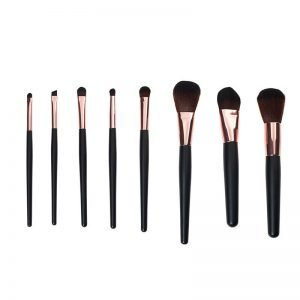 Black 8pcs Cosmetics Brush Set