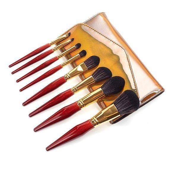 Retro Makeup Brush Set Manufacture with Travel bag