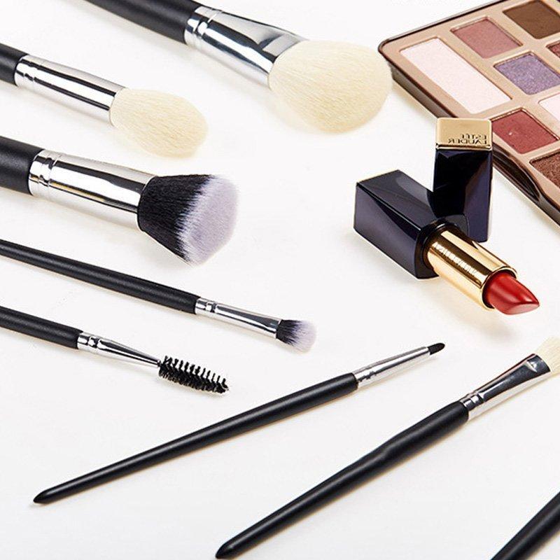 11 Pcs Synthetic Makeup Burhses Black Color
