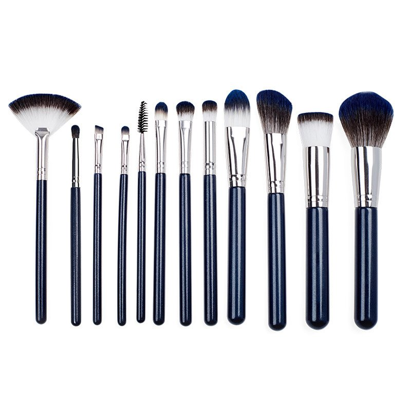 12 Pieces Face Cosmetic Brush Set