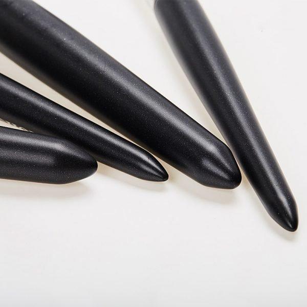 Black makeup brush kit