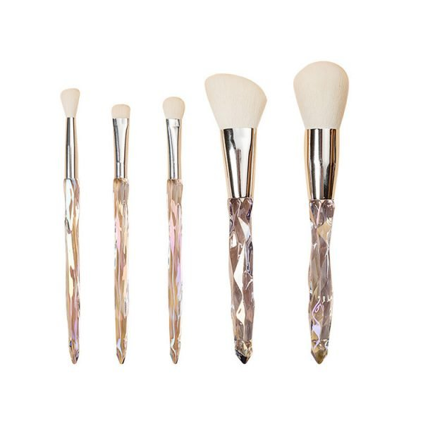 5 pcs crystal makeup brush set