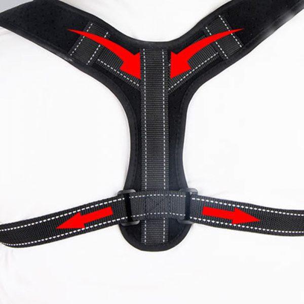 Adjustable Back Posture Corrector for Men with Reflective Strip