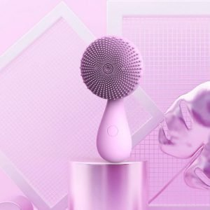 purple silicone facial brush for girl oem service