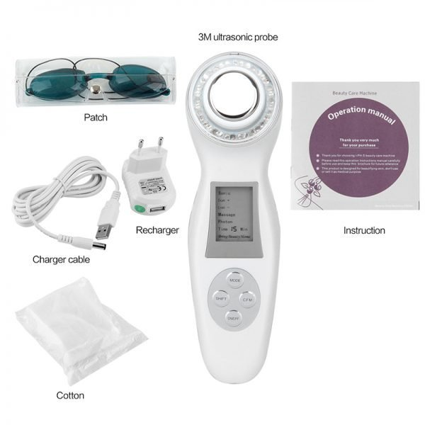 Ultrasonic LED Light Facial Beauty Machine