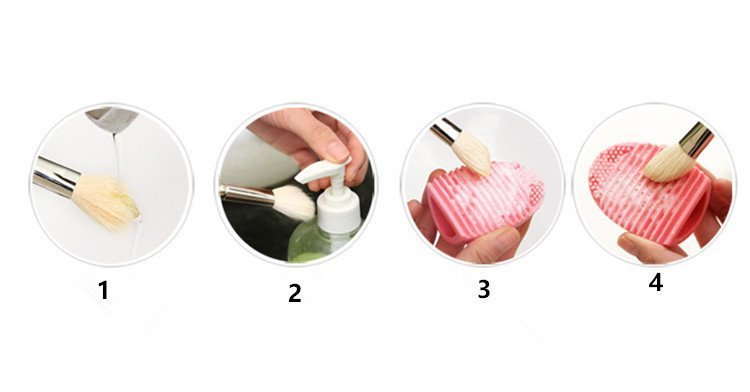 How to use the Brush Egg Silicone Makeup Brush Cleaner