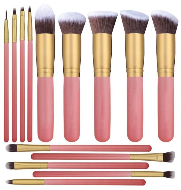 14 Pcs Makeup Brush Set Pink