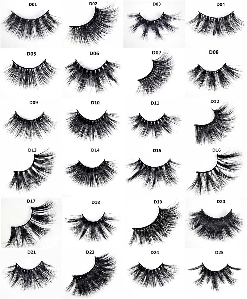 5D Mink real fur eyelashes wholesale with private label