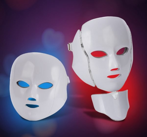 Led Face and Neck Beauty Mask 7 Color Light Therapy Facial Mask Wholesale