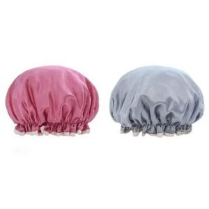 Waterproof Shower Cap with Elastic for Men and Women (2)