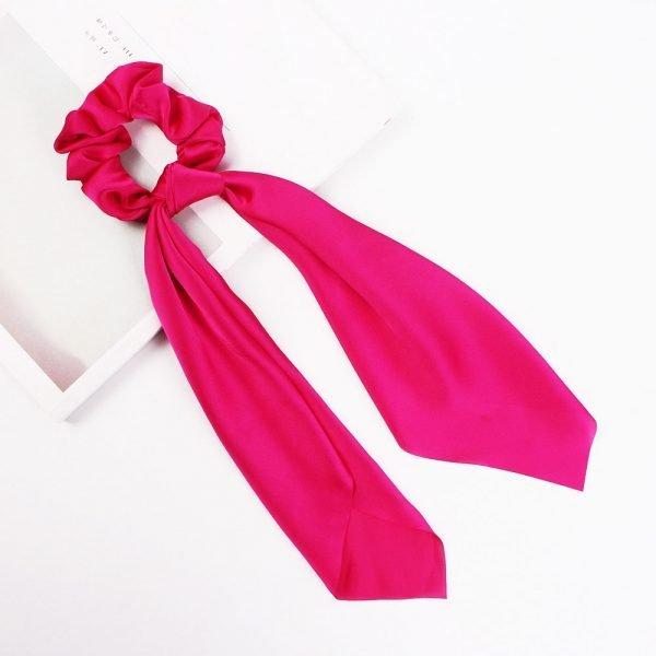 hair scarf scrunchie silk red
