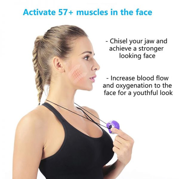 jawline exerciser and training ball