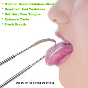 Medical Grade Reusable Stainless Steel Tongue Cleaner Wholesale