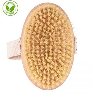 100% Vegan Natural Sisal Bristle Dry Brush Body Brush Wholesale