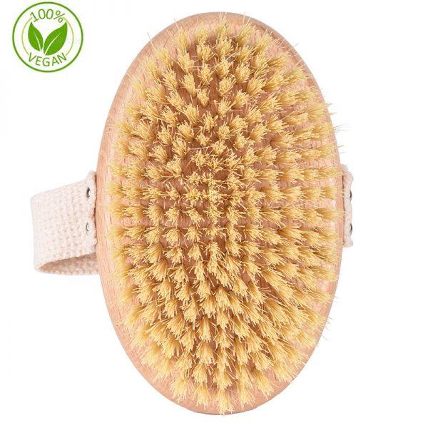 100% Vegan Natural Sisal Bristle Dry Brush Body Brush Wholesale