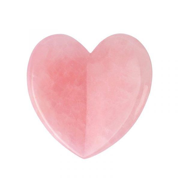 Rose Quartz Heart Shape Gua Sha Massage Tool Wholesale