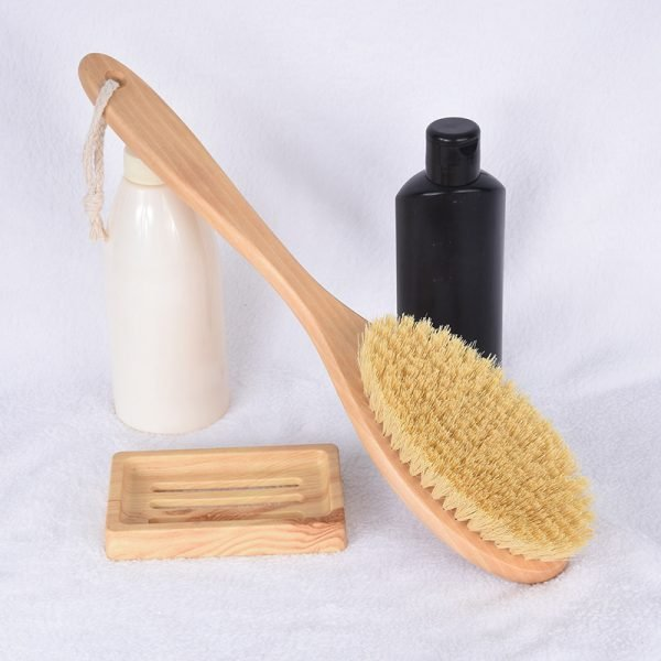 Wooden Dry Skin Body Brush With Long Handle Wholesale