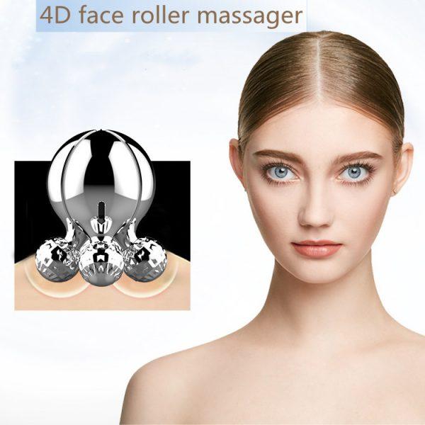 4D face roller massager