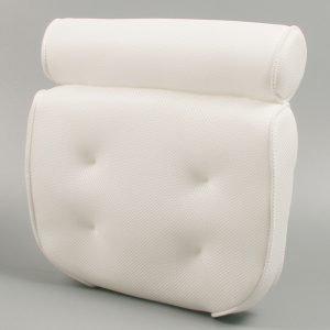 spa bath pillow white