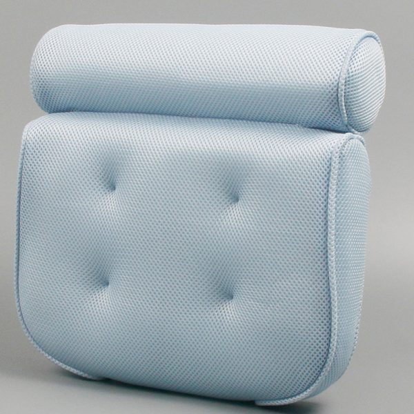 spa bath pillow blue