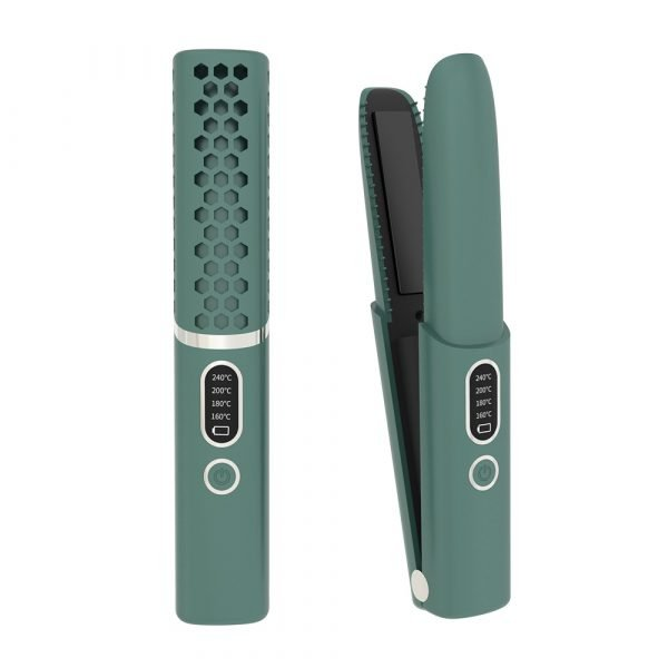 wireless hair curler and straightener