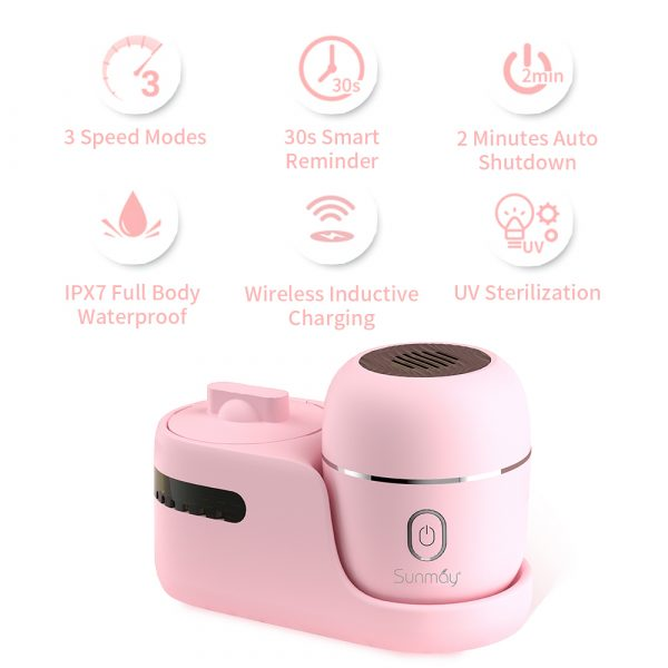 Upgraded Version Wireless Egg Sonic Facial Cleansing Brush with Sterilizer Station China Professional Manufacturer