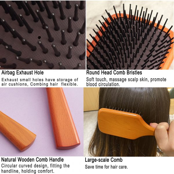 Wooden Paddle Hair Care Brush Comb Cheap Price Wholesale